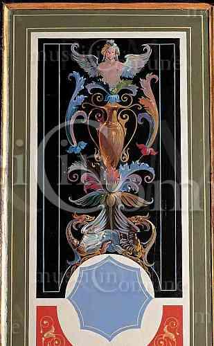 Porta dipinta con decorazioni a grottesche - Decorazioni grottesche ...